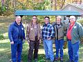 GCKG 2011 Fall 23s    5 of the 6 new members who joined the Guild at the Fall Meeting; L-R, Larry Martin, Dave Smith, Dan Eastland, Dan Moye & Grady...