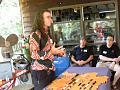 John Denton, easily recognizable by his always colorful shirts, presenting his talk on Bob Loveless and Loveless Knives.      GCKG 2012 Summer 32   ...