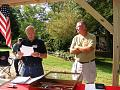 Saturday Morning:  Sunshine and no rain!    L-R: Randy Scott, Secretary, and Henry Cambron, President;  a quick presentation of the Board of...