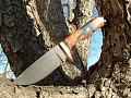 1095 and 15n20 blade mountian laurel handle